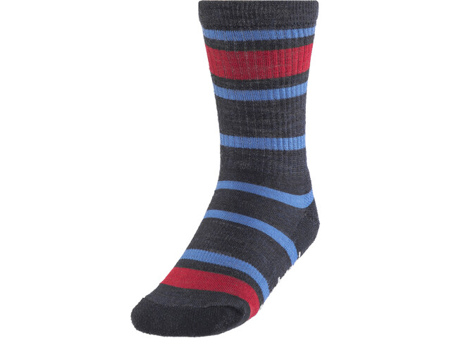 Smartwool Striped Hike Light 1/4 Crew Sokken Kinderen, deep navy